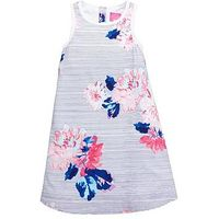 Joules Girls Woven Floral Dress, Multi, Size 8 Years, Women