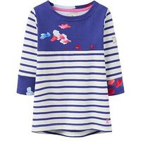 Joules Floral Jersey Top, Floral Print, Size Age: 9-10 Years, Women
