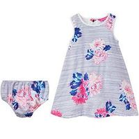 Joules Floral Dress & Brief Outfit, Multi, Size 3-6 Months