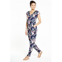 V by Very Wrap Jumpsuit, Floral Print, Size 14, Women