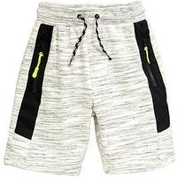 V by Very Boys Tech Shorts, Grey, Size Age: 7-8 Years