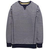 Boys, V by Very Stripe Sweat, Navy, Size 11-12 Years