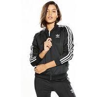 adidas Originals Superstar Track Top - Black , Black, Size 16, Women