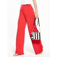 V by Very Jersey Wide Leg Trouser, Red, Size 20, Women
