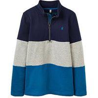 Joules Boys Dale Sweatshirt, Blue Stripe, Size 3 Years, Women