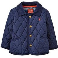 Joules Baby Boys Milford Quilted Jacket, Navy, Size 0-3 Months