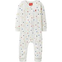 Joules Baby Boys Webley Waffle Jersey Babygrow, Cream, Size 0-3 Months
