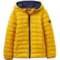 Joules Boys Cairn Pack Away Quilted Jacket, Antique Gold, Size Age: 5 Years