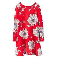 Joules Girls Josie Trapeze Dress, Red Floral, Size 3 Years, Women