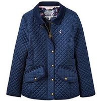 Joules Girls Newdale Quilted Jacket, Navy, Size 7-8 Years, Women