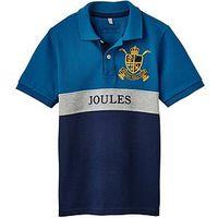 Boys, Joules Harry Logo Polo Shirt, Blue Stripe, Size 4 Years