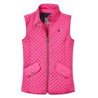 Joules Girls Jilly Quilted Gilet, Fuchsia, Size 3 Years, Women