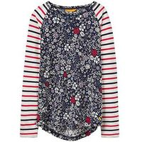 Joules Girls Mishmash Hotchpotch Top, Ditsy Floral, Size Age: 9-10 Years, Women