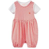 Joules Girls Dolly Jersey Romper And T-shirt Outfit, Pink, Size 12-18 Months