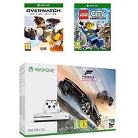 Xbox One S 500Gb 500Gb Console With Forza Horizon 3 With Overwatch And Lego Plus Extra Controller