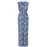 Mela Blue Floral Print Jumpsuit New Look