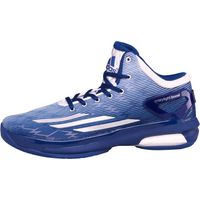 adidas Mens Crazylight Boost Basketball Shoes White/Metallic Silver/Royal