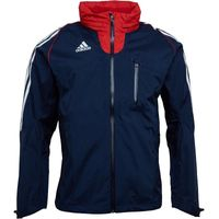adidas Mens 3 Stripe Waterproof Training Jacket Navy/White/Red