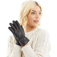 Board Angels Womens Leather Gloves Black