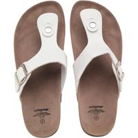 Board Angels Womens Toe Post Sandals White