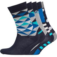 JACK AND JONES Mens Five Pack Socks Navy