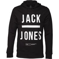 JACK AND JONES Mens Gary Hoody Black