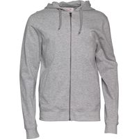 Original Penguin Mens Slub Full Zip Hoody Rain Heather
