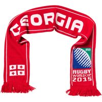 Rugby World Cup Georgia Scarf Flag Red