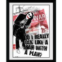 DC Comics Batman The Dark Knight Rises Man with a Plan - 8x6 Framed Photographic