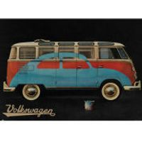 VW Camper Paint Advert - Giant Poster - 100 x 140cm