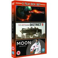 3 Film Box Set: Knowing/District 9/Moon
