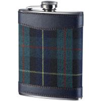 Premier Housewares Tartan Hip Flask (8oz) - Stainless Steel