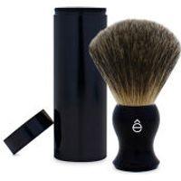 eShave Travel Fine Badger Hair Shaving Brush with Canister (Black)