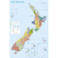 New Zealand Map - Maxi Poster - 61 x 91.5cm