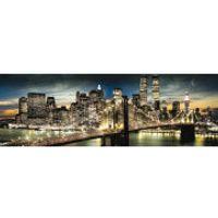 New York Manhattan Night and Moon - Midi Poster - 30.5cm x 91.5cm