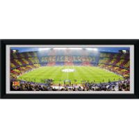Barcelona Nou Camp - 30 x 12 Framed Photographic