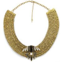 Impulse Womens Structured Necklace - Gold