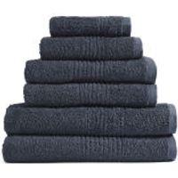 Highams 100% Egyptian Cotton 6 Piece Towel Bale (550gsm) - Charcoal