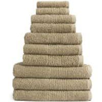 Highams 100% Egyptian Cotton 10 Piece Towel Bale (550gsm) - Latte