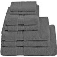 Restmor 100% Egyptian Cotton 7 Piece Supreme Towel Bale Set ( 500gsm) - Charcoal