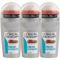 LOreal Paris Men Expert Fresh Extreme Deodorant Roll-On (50ml) Trio
