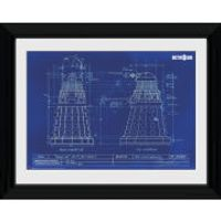 Doctor Who Dalek Blueprint - 30 x 40cm Collector Prints