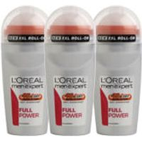 LOreal Paris Men Expert Full Power Deodorant Roll-On (50ml) Trio