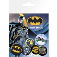 Batman Comic Logo and Joker - Badge Pack