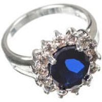 The Royal Engagement Collection Silver plated ring-PU637- size 8