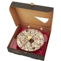 The Gourmet Chocolate Pizza Chocolate Lovers Pizza - 7 Inch