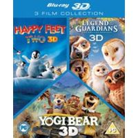 3D Triple Pack: Happy Feet 2 / Yogi Bear / Legend of the Guardians