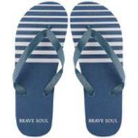 Bravesoul Mens Coast Flip Flops - Navy - 6/7