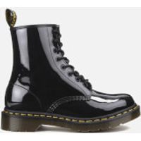 Dr. Martens Womens Core 1460 W 8-Eye Patent Lamper Boots - Black  - UK 5