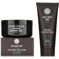 Gentlemens Tonic Shaving Duo - Traditional Shave Cream and Soothing Aftershave Balm